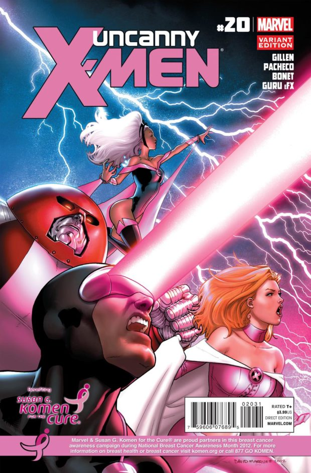 Uncanny X-Men 20 - Komen - Breast Cancer Awareness Month