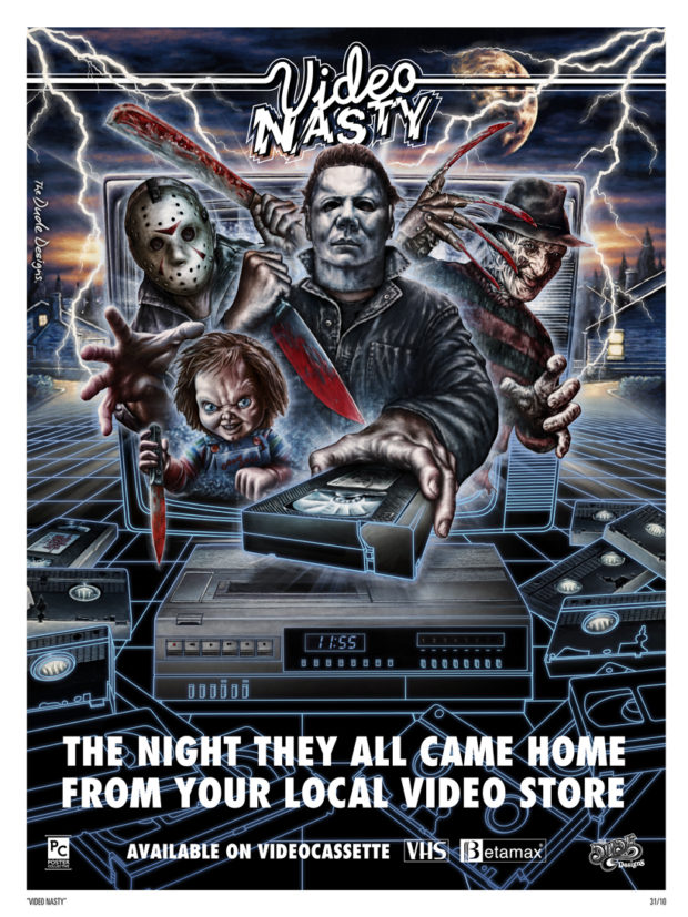 Video Nasty poster - Tom Hodge (The Dude Designs)