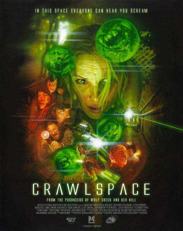 Crawlspace poster - Artist: Hugh Fleming