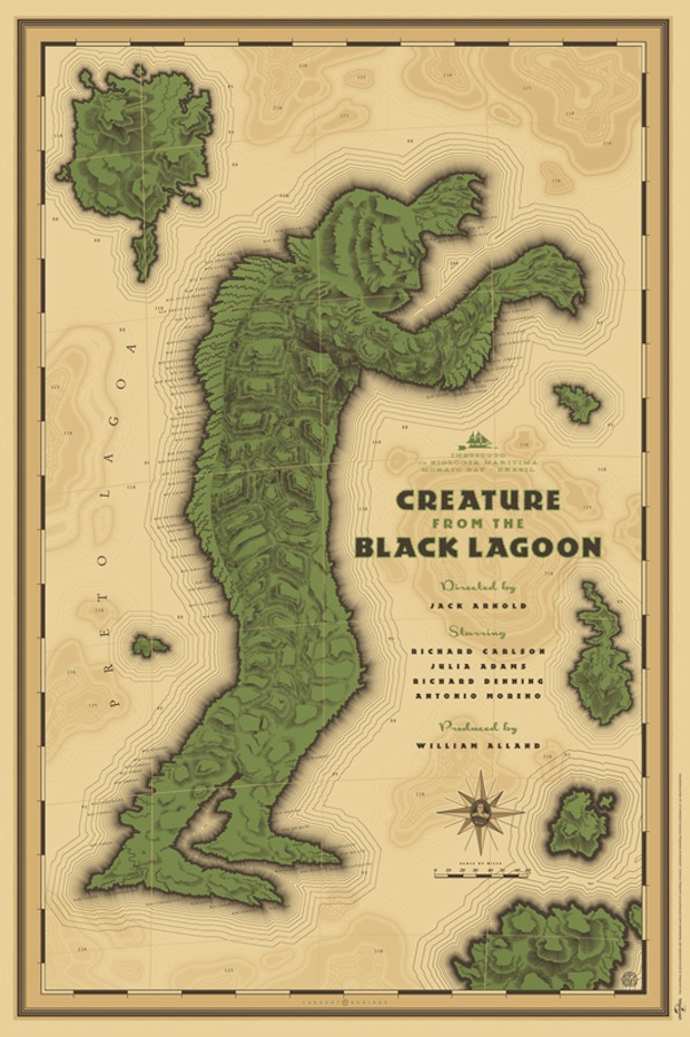 Creature From the Black Lagoon - Mondo poster - Artist: Laurent Durieux
