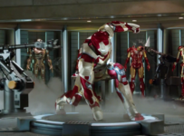 Iron Man 3 - Teaser - Iron Patriot and Mark VIII armour
