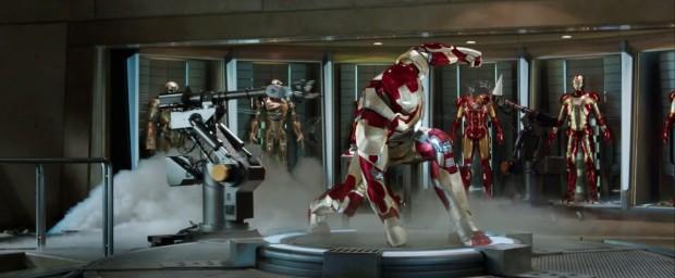 Iron Man 3 - Teaser - Iron Patriot and Mark VIII armour