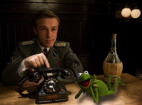 Christoph Waltz and Kermit in The Muppets Sequel