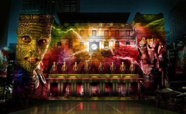 Doctor Who - Lights - Vivid Sydney