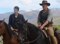 SLOW WEST - 2015 FILM STILL - Kodi Smit-McPhee and Michael Fassbender