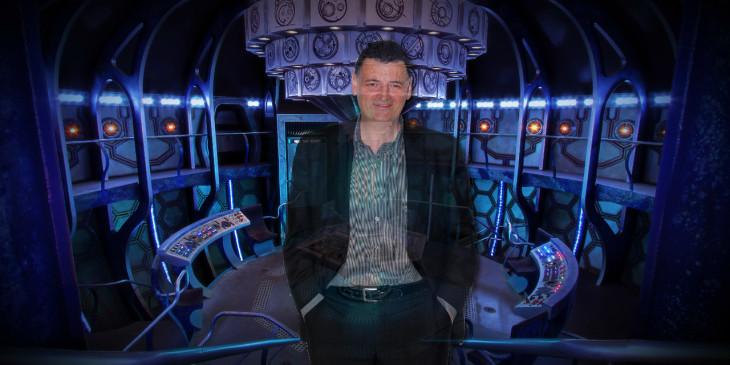 TARDIS interior with Steven Moffat