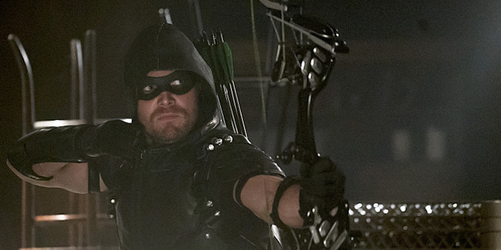"Arrow -- ""The Candidate"" -- Pictured: Stephen Amell as Green Arrow"