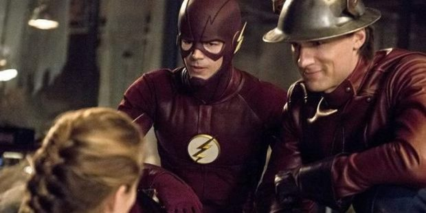 The Flash: Season 2 - Barry Allen (Grant Gustin) and Jay Garrick (Teddy Sears)