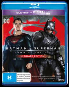 BATMAN v SUPERMAN Blu-ray artwork Australia
