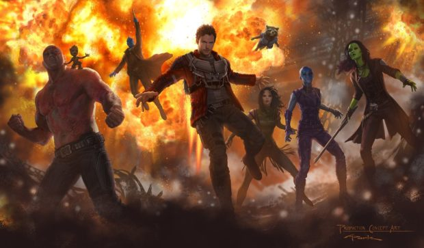 Guardians of the Galaxy Vol. 2 - concept art with Mantis and Baby Groot