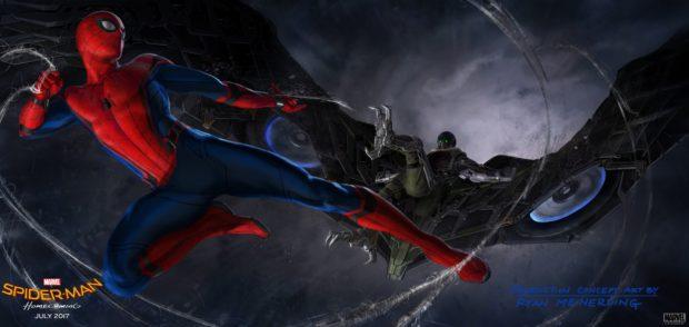 Spider-Man: Homecoming - Concept art - Spider-Man v The Vulture