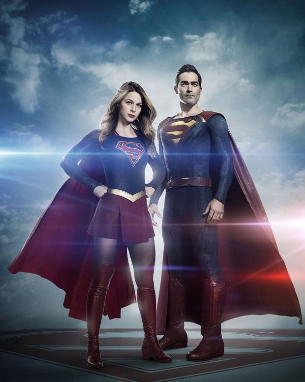 Tyler Hoechlin and Melissa Benoist as Superman and Supergirl