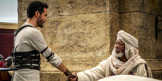 BEN-HUR (2016) - Jack Huston and Morgan Freeman
