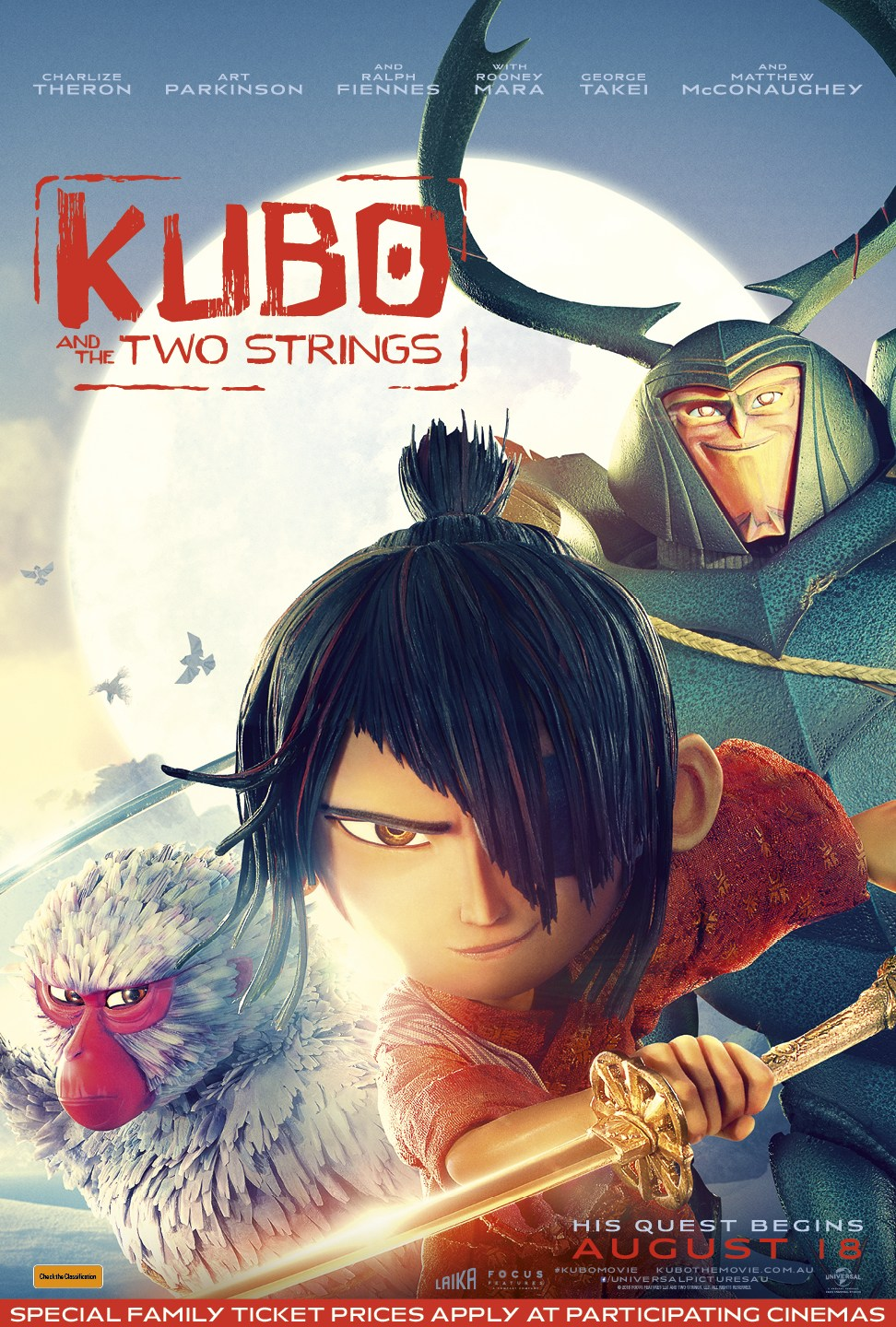 Review: Kubo and the Two Strings – The Reel Bits