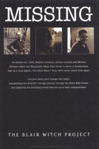 The Blair Witch Project - Missing poster