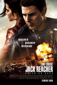 Jack Reacher : Never Go Back poster