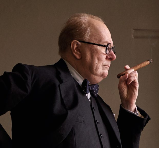 Gary Oldman is Winston Churchill in DARKEST HOUR