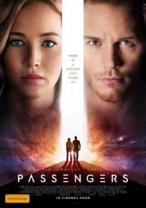 Passengers poster - Jennifer Lawrence and Chris Pratt