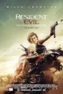 Resident Evil: The Final Chapter poster (Australia)