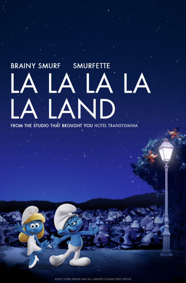 The Smurfs: The Lost Village - La La Land Parody Poster