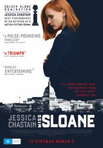 Miss Sloane poster Australia (Roadshow Films)