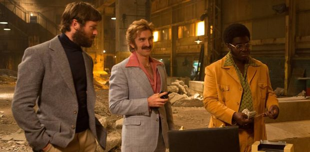 FREE FIRE, Starring Sharlto Copley, Armie Hammer, Brie Larson, Cillian Murphy, Jack Reynor, Babou Ceesay, Enzo Cilenti, Sam Riley, Michael Smiley and Noah Taylor. Directed by Ben Wheatley, Executive Producer Martin Scorsese