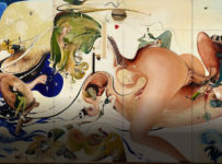 Brett Whiteley Alchemy 1972-1973 oil and mixed media on wood 205.8 x 1617 x 3.3 cm overall Art Gallery of New South Wales Purchased by the New South Wales State Government 1994, transferred to the Gallery 1998 © Wendy Whiteley