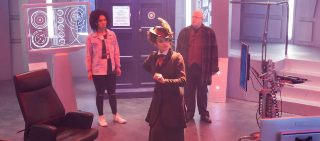 Programme Name: Doctor Who S10 - TX: 24/06/2017 - Episode: n/a (No. 11) - Picture Shows: Bill (PEARL MACKIE), Missy (MICHELLE GOMEZ), Nardole (MATT LUCAS) - (C) BBC/BBC Worldwide - Photographer: Jon Hall