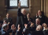 (ctr) Gary Oldman stars as Winston Churchill in director Joe Wright's DARKEST HOUR, a Focus Features release. Credit: Jack English / Focus Features