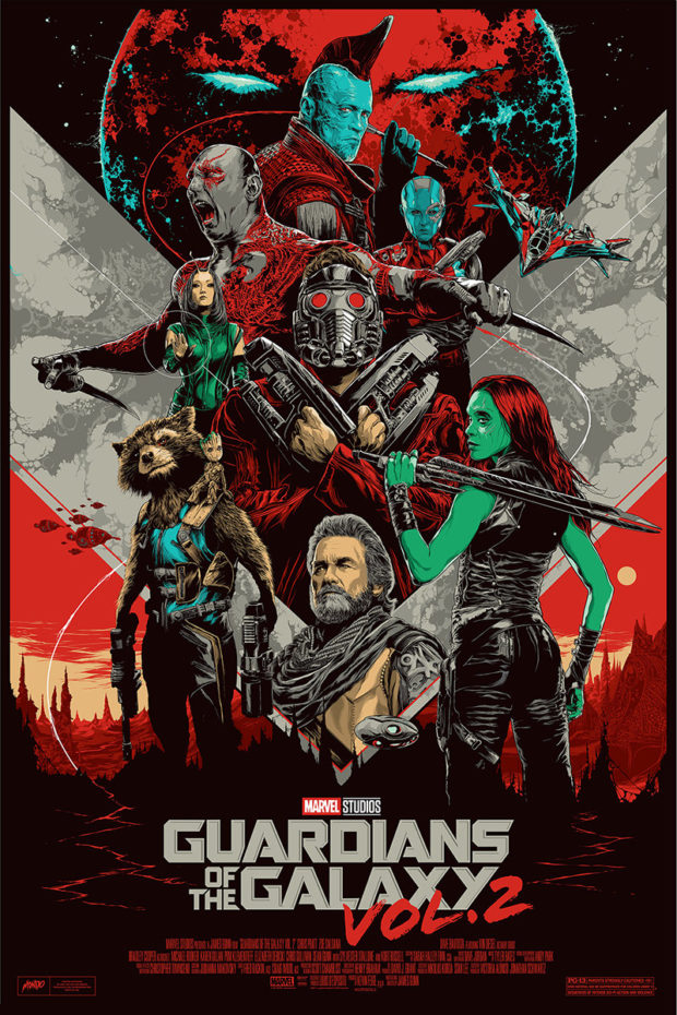 Guardians of the Galaxy Vol. 2 - Designers: Ken Taylor (for Mondo)